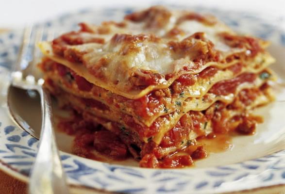 Lasagne alla bolognese is a fulfilling Italian dish