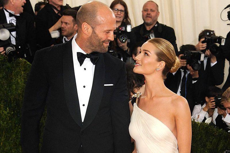 The world famous couple Rosie Huntington-Whiteley and Jason Statham