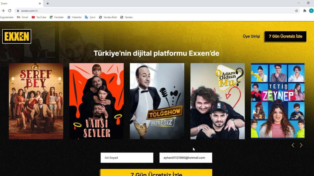 Through exxen.com, you can make a membership with 9.90 TV per month
