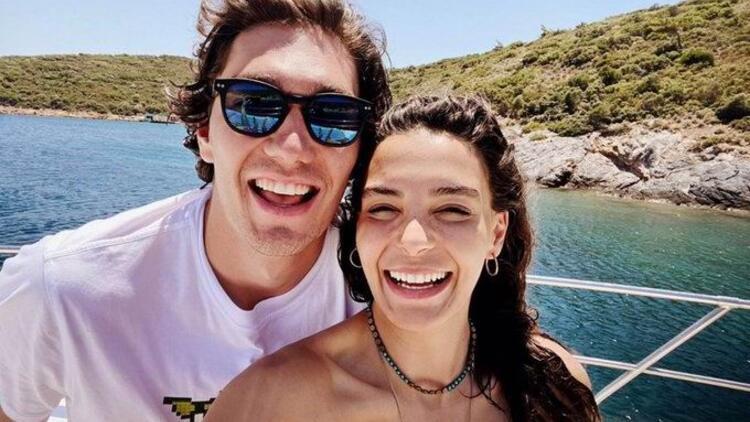The lovely couple Ebru Sahin and Cedi Osman