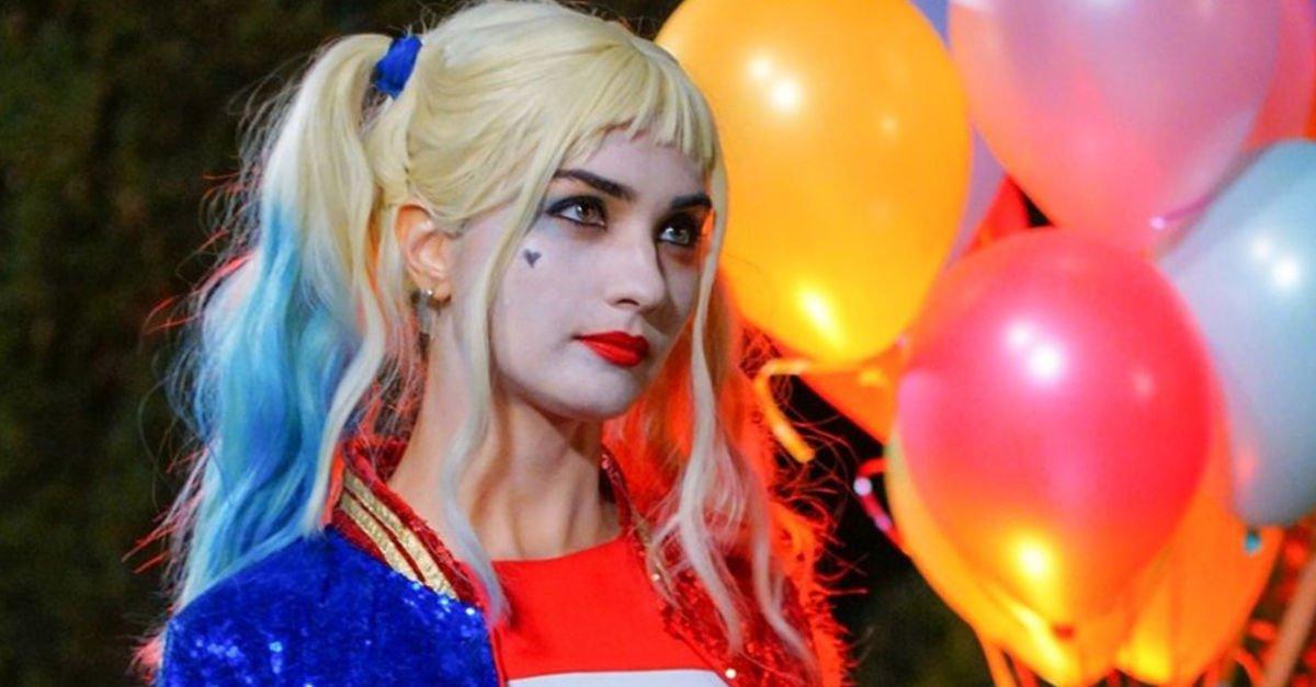 The world-famous Turkish actress Tuba Büyüküstün turned into Harley Quinn as a part of her role in Sefirin Kızı (The Ambassador's Daughter) Turkish TV drama