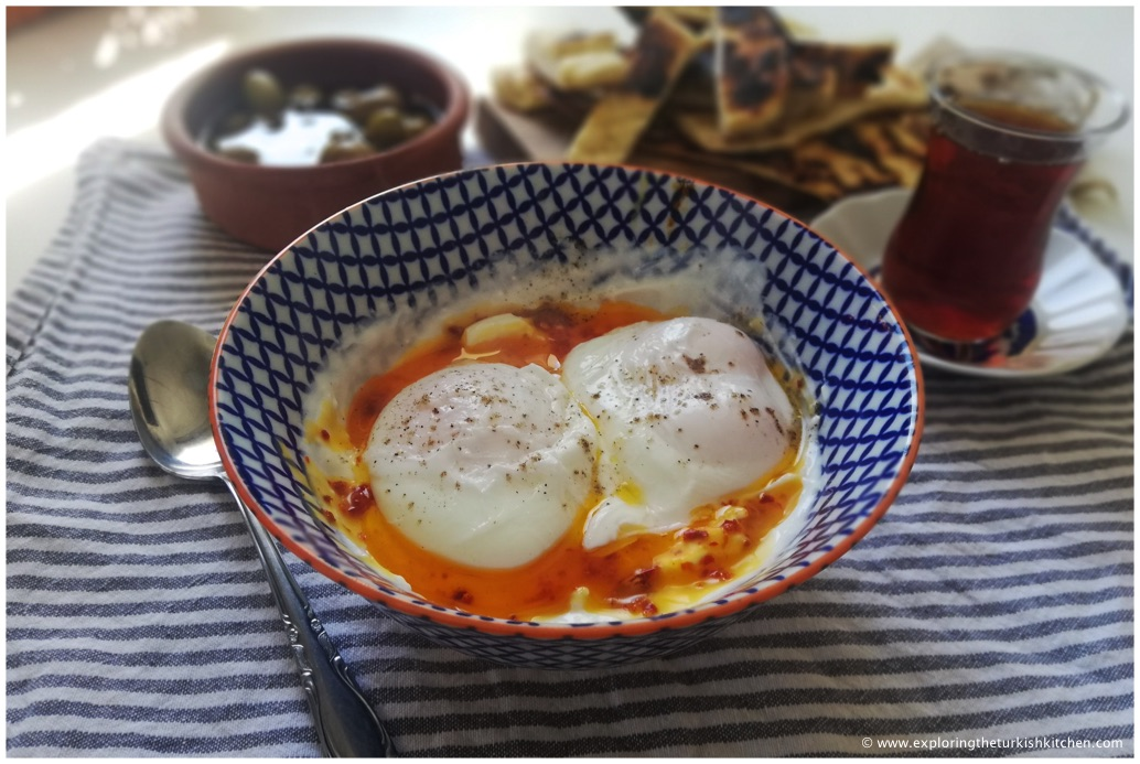 Turkish tea is always a good idea with poached egg