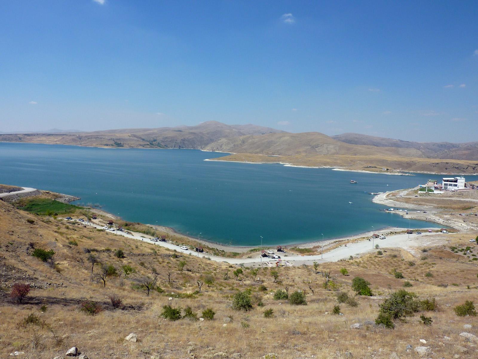 Yamula Dam Lake in Turkey's Kayseri district