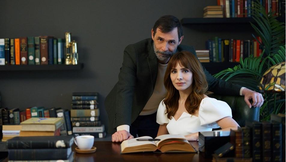 Erdal Beşikçioğlu (as Cihan Fırtına) and Nur Fettahoğlu (as Aylin Fırtına)