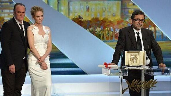 Turkish director Nuri Bilge Ceylan had received his award from Quentin Tarantino and Uma Thurman's hands