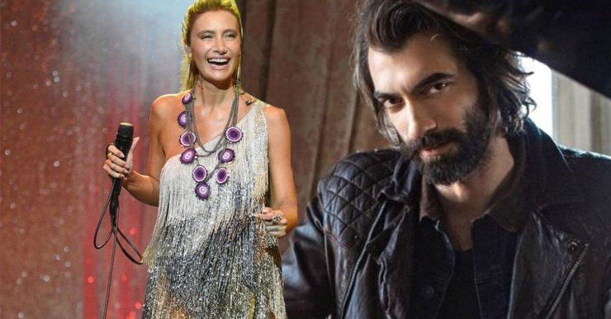 Turkish actor Ilker Kaleli and the pop-singer Sila