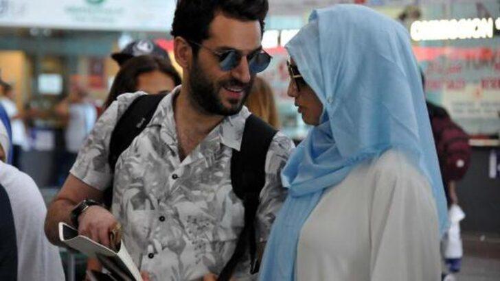 Turkish actor Murat Yıldırım and his wife made a pilgrimage