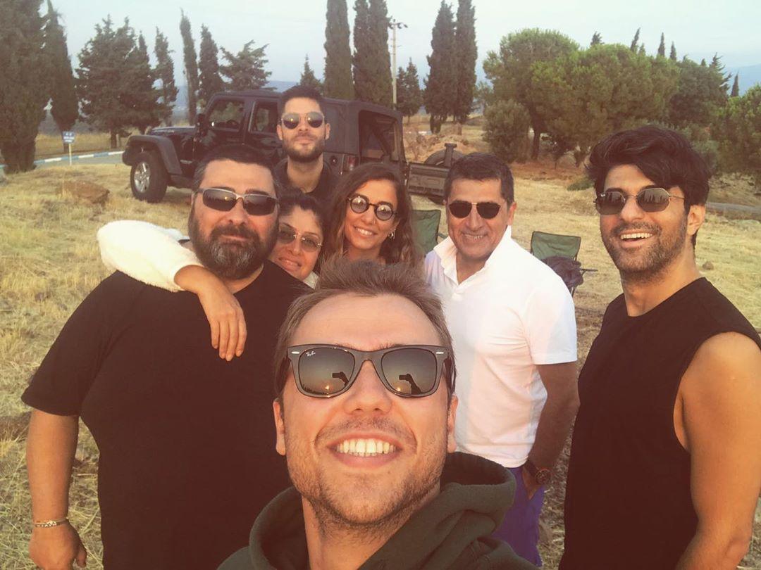 The crew of Yolun Açık Olsun gathered to start filming