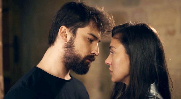 Alp Navruz and Ceren Yılmaz in Zümrüdüanka (The Phoenix) Turkish TV drama