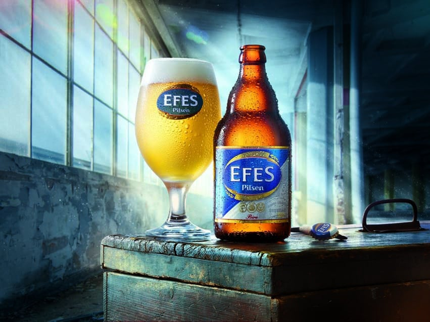 Turkey's own production Efes Pilsen is a delicious beer brand
