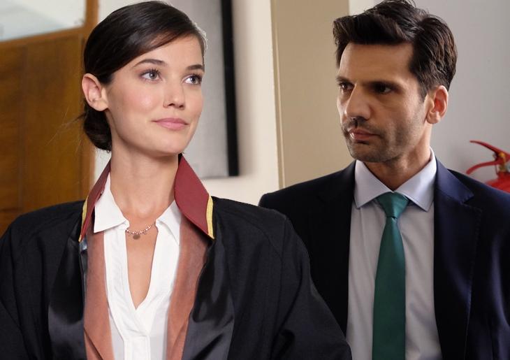 The beautiful Turkish actress Pinar Deniz and the handsome Turkish actor Kaan Urgancioglu