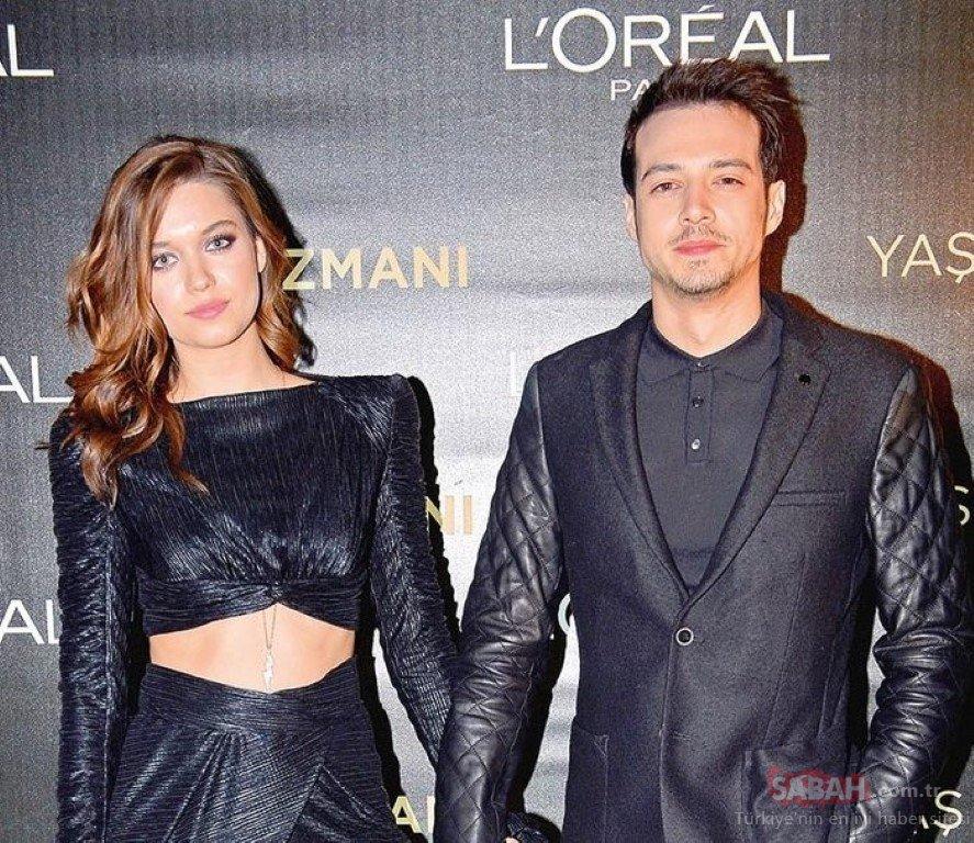 The beautiful actress has been dating Turkish actor Mert Yazıcıoğlu